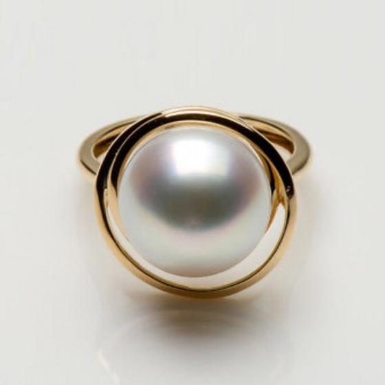 Nhẫn ngọc trai vàng 14k - NN01021