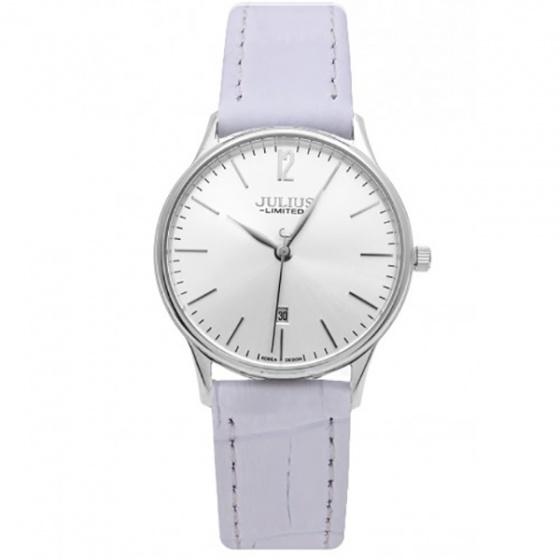 Đồng hồ nam JAL-042MA Julius Limited Hàn Quốc dây da (trắng bạc)