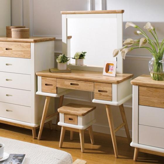 Bộ bàn trang điểm Vivid gỗ tự nhiên