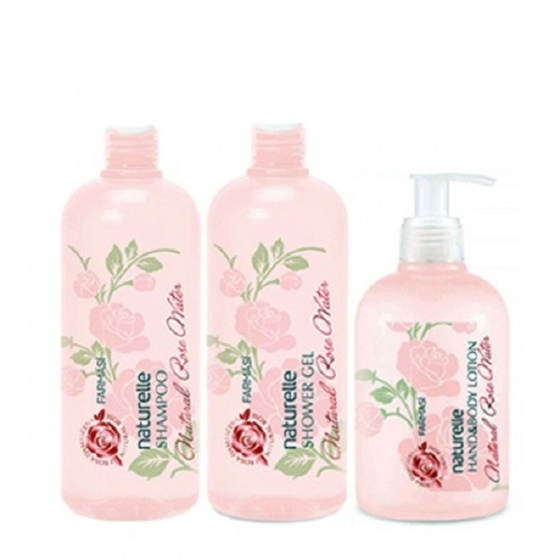 Bộ 3 sản phẩm tắm,gội,lotion chiết xuất hoa hồng farmasi 1050ml