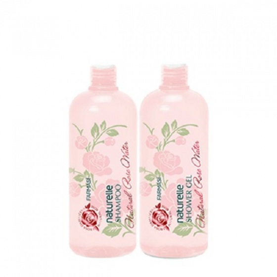 [Combo2] Dầu gội & gel tắm chiết xuất hoa hồng Farmasi 375ml/chai