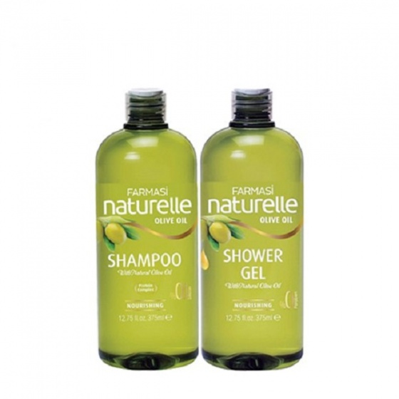 [Combo2] Dầu gội và gel tắm chiết xuất olive farmasi 375ml/chai