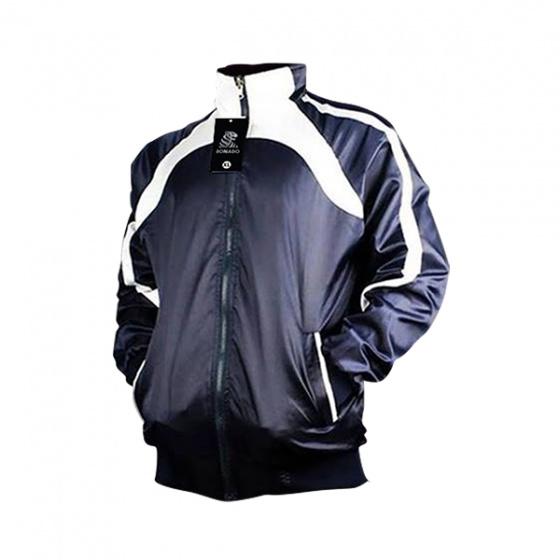 Áo khoác dù nam 2 lớp 2 mặt chống nước cao cấp Bonado BN93  - Xanh đen phối trắng