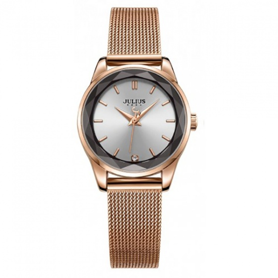 Đồng hồ nữ Julius Hàn Quốc dây thép JA-1040 (đồng)