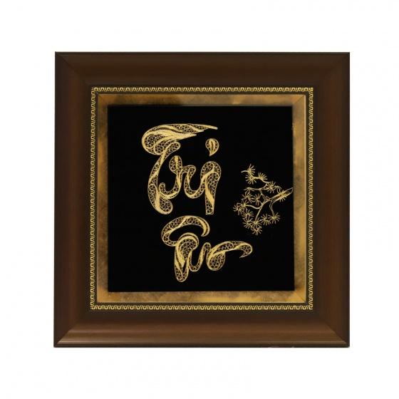 Tranh chữ Tri Ân thư pháp mạ vàng - Quà tặng độc đáo, cao cấp