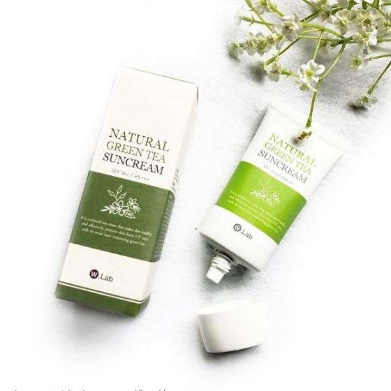Kem chống nắng trà xanh Wlab Natural Green Tea Suncream SPF 50+ PA+++ 50ml