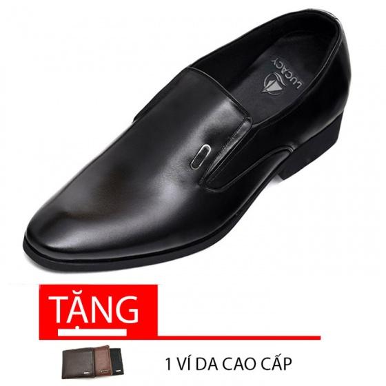 Giày công sở tăng chiều cao nam tăng cao 6cm N2101MD Lucacy-Tặng ví da cao cấp
