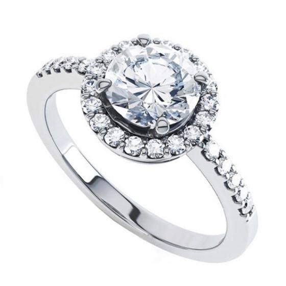 Nhẫn nữ đá kim cương nhân tạo - NN34