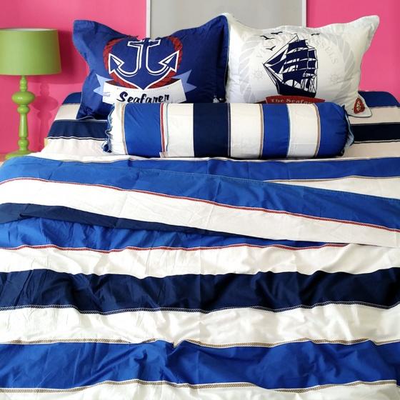 Bộ chăn ga gối 5 món cotton Hàn Julia 215BG16