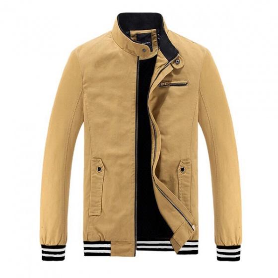Áo khoác kaki nam cổ đứng chuẩn hàn phong cách Bonado AK68 - Màu Vàng