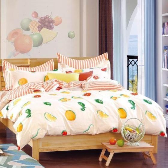 Bộ chăn ga gối 100% cotton sợi bông Hàn Quốc Julia (bộ 5 món có chăn chần gòn)  249BG16