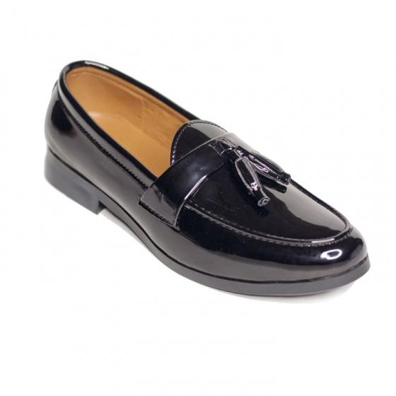 Giày lười nam chuông da bóng sang trọng đế khâu cao cấp - m512