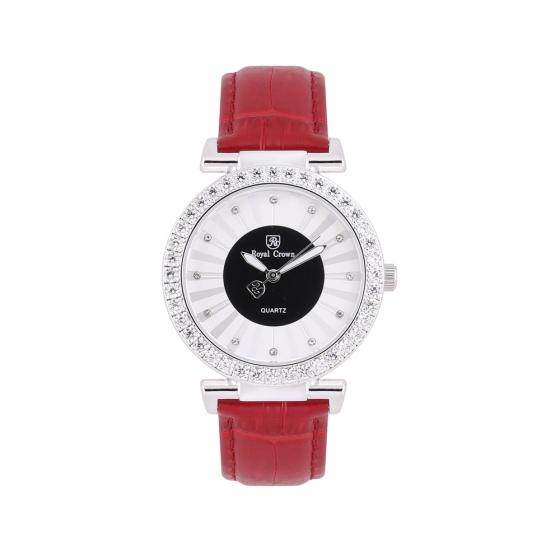 Đồng hồ nữ chính hãng Royal Crown 4611 dây da đỏ