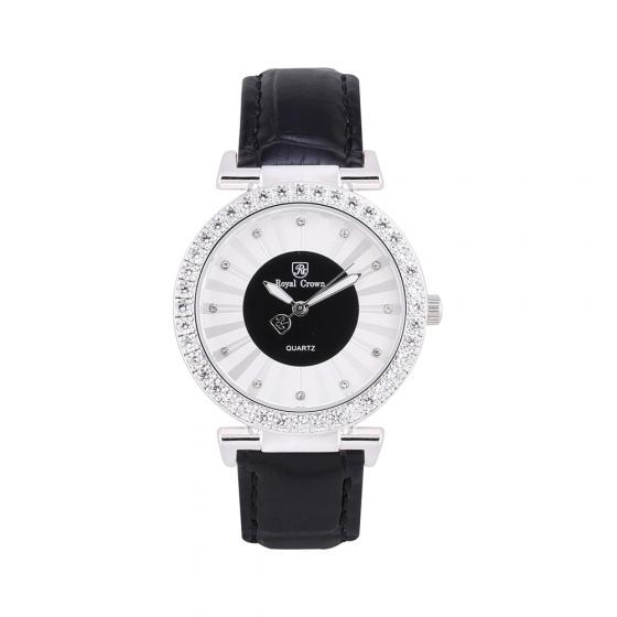 Đồng hồ nữ chính hãng Royal Crown 4611 dây da đen