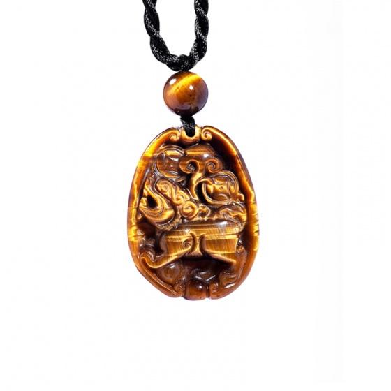 Mặt dây chuyền tỳ hưu đá mắt hổ vàng PDTTIGY02 - Vietgemstones