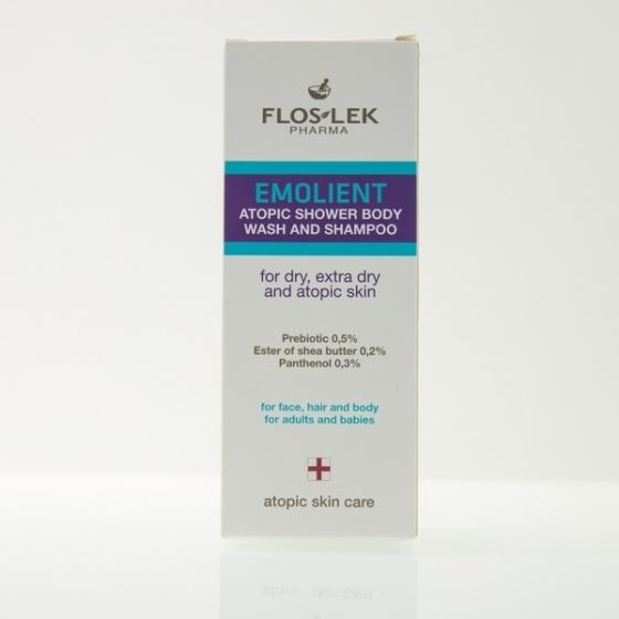 Combo 2 dung dịch tắm và gội  dành cho người  viêm da cơ địa Floslek Emolient Atopic 150ml - nhập khẩu Balan