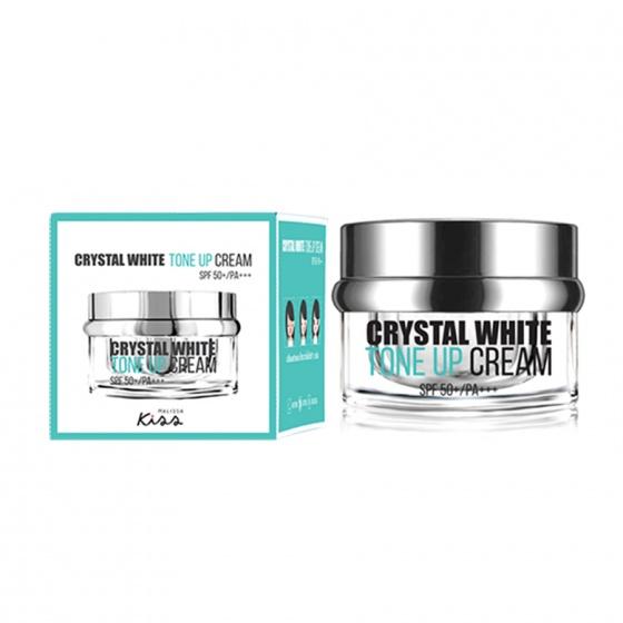 Kem trắng sáng da chống nắng Malissa Kiss Crystal White SPF 50+ 30g