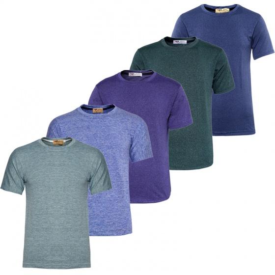 Siêu đẹp Gymer - combo 5 áo thun nam cổ tròn tập GYM thể thao Pigofashion GM02 nhiều màu