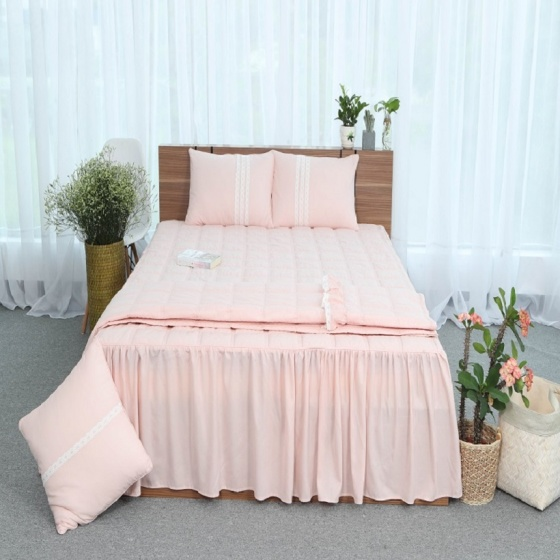 Ga chun trần 100% cotton Grand - 150 x 190 - Hồng