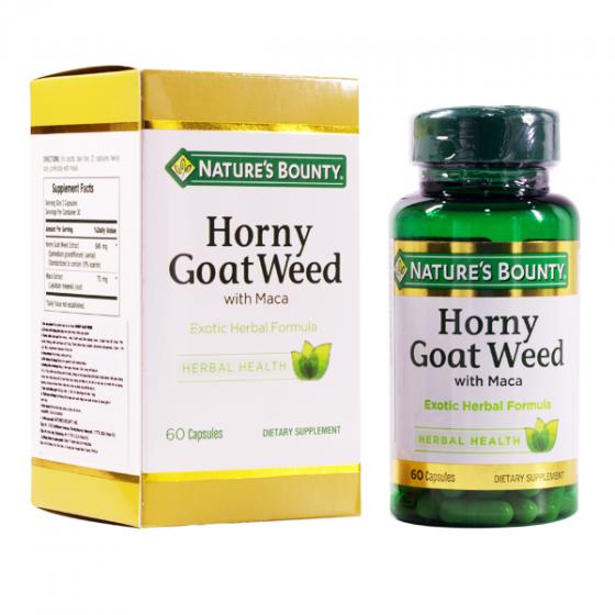 Viên uống tăng cường sinh lý nam Horny Goat Weed Nature's Bounty - 60 viên