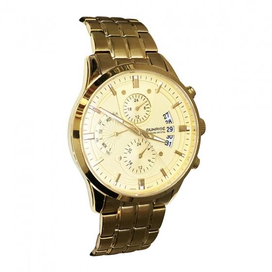 Đồng hồ nam Sunrise 1166SA G chính hãng (full box + thẻ bảo hành 3 năm) kính sapphire chống xước - chống nước - dây thép chống dỉ 316l