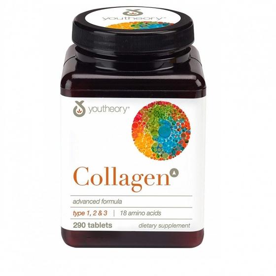 Youtheory Collagen Type 1,2,3 (290 Viên) - nhập khẩu Mỹ