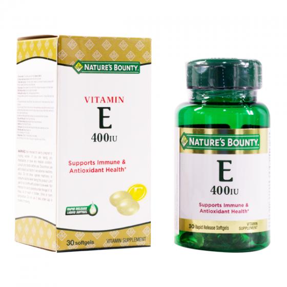 Viên uống Vitamin E 400 IU Nature's Bounty - 30 viên