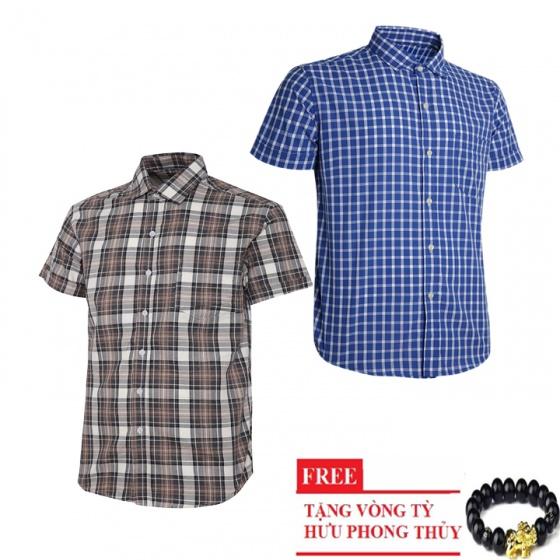 Bộ 2 áo sơ mi ngắn tay sọc caro thời trang SMC2609 - Gabo Fashion