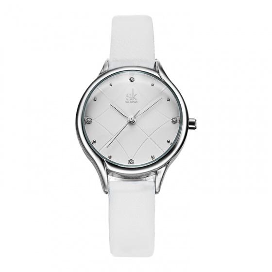 Đồng hồ nữ chính hãng Shengke Korea K8013L-06 trắng