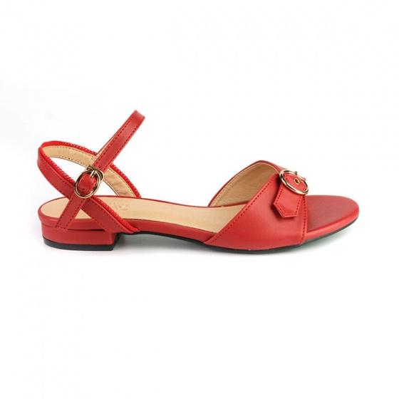 Sandal đế bệt quai ngang Sunday SD28 màu đỏ