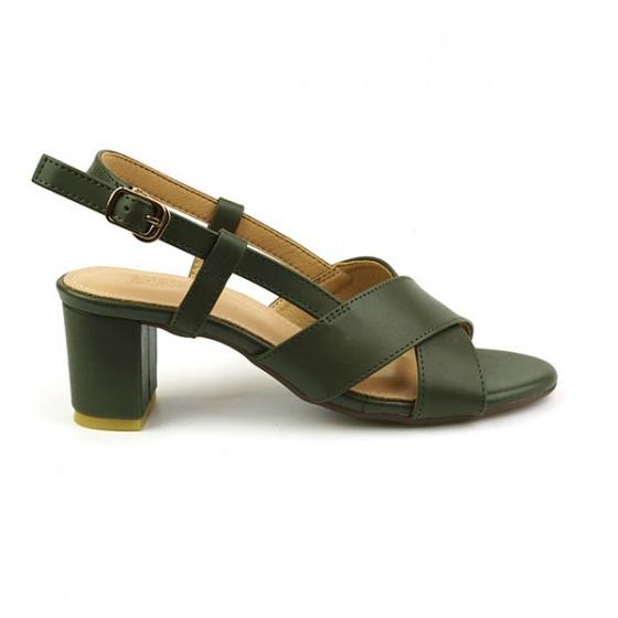 Sandal đế vuông Sunday DV34 màu xanh rêu