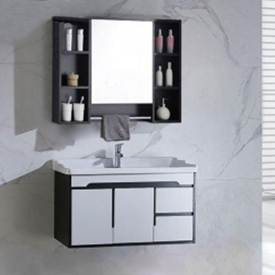 Bộ tủ, chậu, kệ gương Lavabo Black & White ZT-LV882F (sản phẩm chỉ ship tại HCM và Hà Nội)