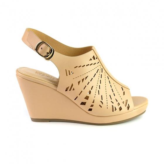Giày đế xuồng êm chân Sunday DX15 màu kem