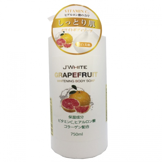 Sữa tắm trắng da vitamin c hương bưởi J'White grapefruit whitening 750ml