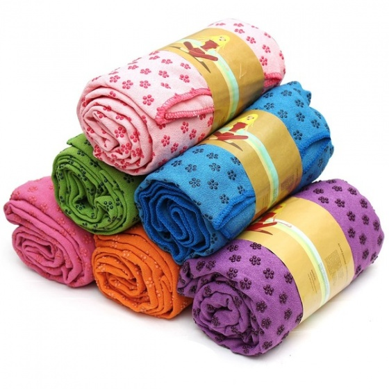 Khăn trải thảm yoga Ribobi có kèm túi đựng