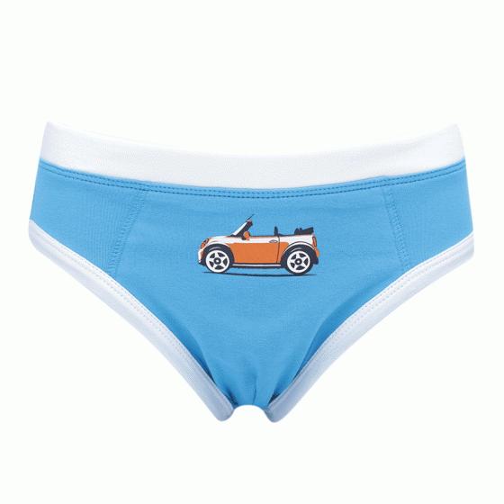 Combo 3 quần brief bé trai ô tô màu xanh iBasic PANB003
