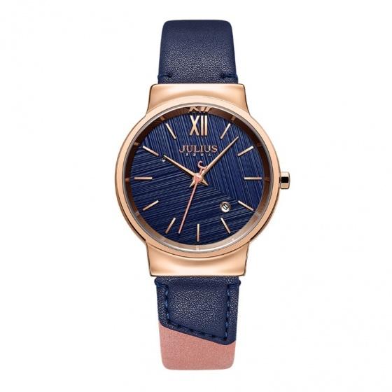 Đồng hồ nữ Julius Hàn Quốc JA-1181 dây da 2 màu cá tính