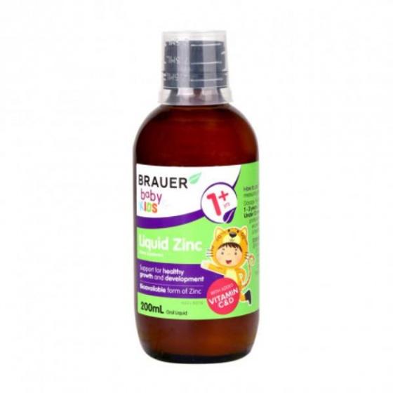 Siro dành cho bé trên 1 tuổi (200ml) - Brauer Baby & Kids Liquid Zinc