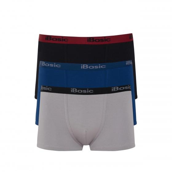 Combo 3 quần lót nam Trunk iBasic PANM078 (đen, xanh, xám)