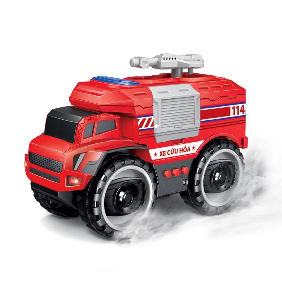 Xe cứu hỏa kết hợp ánh sáng và âm thanh