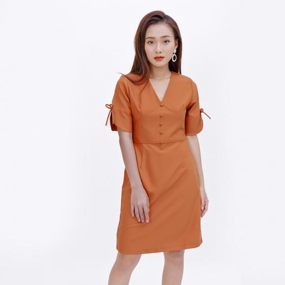 Đầm công sở thời trang Eden tay lỡ cổ tim - D374
