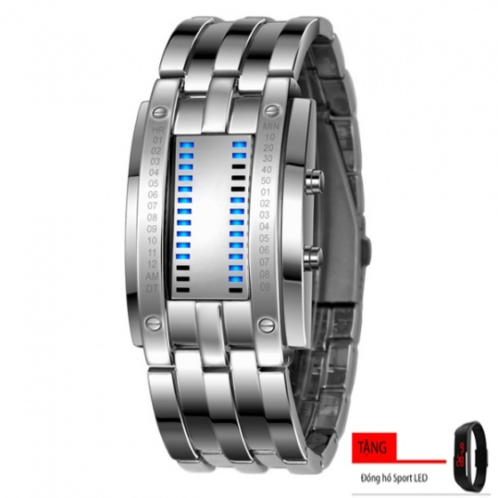 (Mua 1 tặng 1) đồng hồ nam Skmei sk010 - tặng đồng hồ led