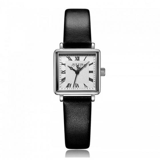 Đồng hồ nữ js--031a julius hàn quốc dây da đen