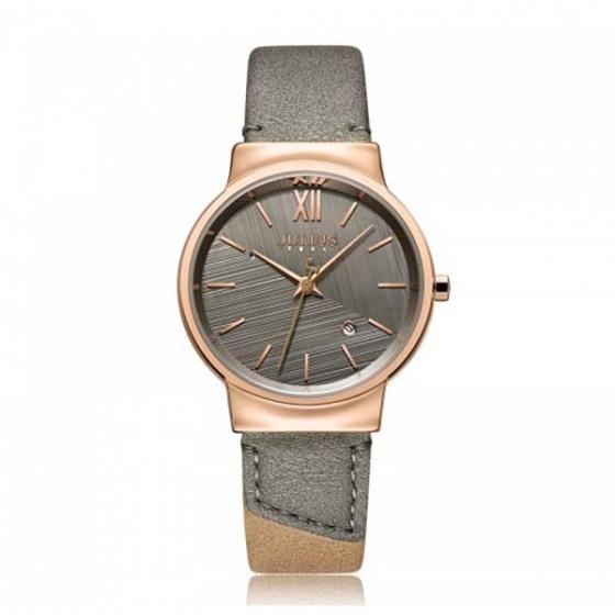 Đồng hồ nữ ja-1181b julius hàn quốc dây da xám