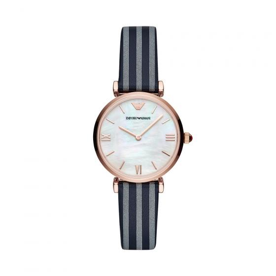 Đồng hồ nữ chính hãng Emporio Armani AR11224 bảo hành toàn cầu - Máy pin dây da tổng hợp