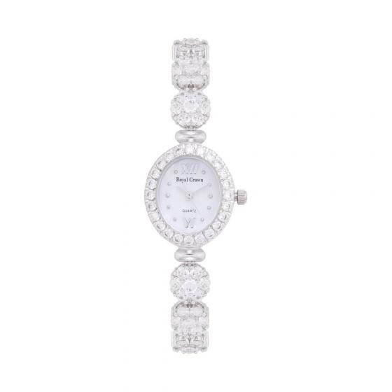 Đồng hồ nữ chính hãng Royal Crown 1516 dây đá vỏ trắng
