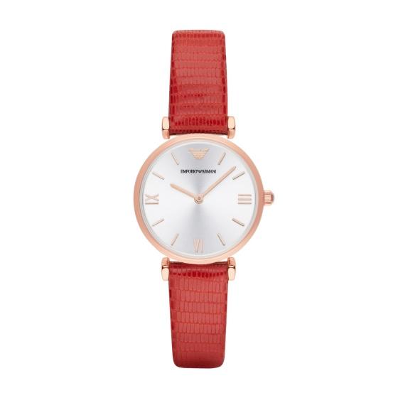 Đồng hồ nữ chính hãng Emporio Armani AR1876 bảo hành toàn cầu - Máy pin dây da tổng hợp