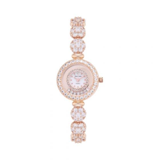 Đồng hồ nữ chính hãng Royal Crown 5308 dây đá vàng hồng