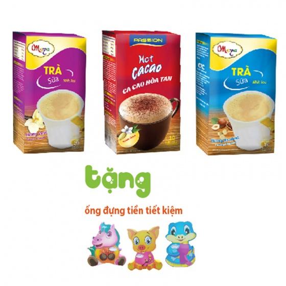 Combo passion hot ca cao - trà sữa Maya Hazelnut, Maya Vani