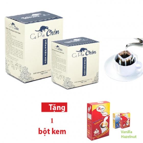 Combo cà phê chồn túi lọc (15g x 15 túi) + bột kem pha cà phê 170g